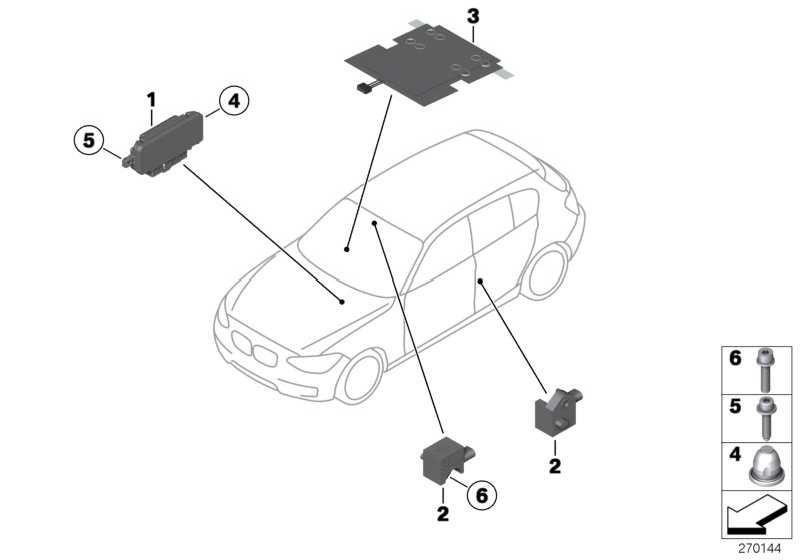 Sensor B-Säule  1er 2er 3er 4er  (65779234989)