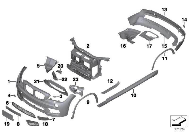 Blende Stossfänger hinten M-PAKET         X1  (51128038993)