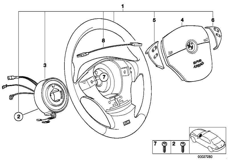 M Sportlenkrad Airbag Leder D=385MM         5er 7er  (32342228670)