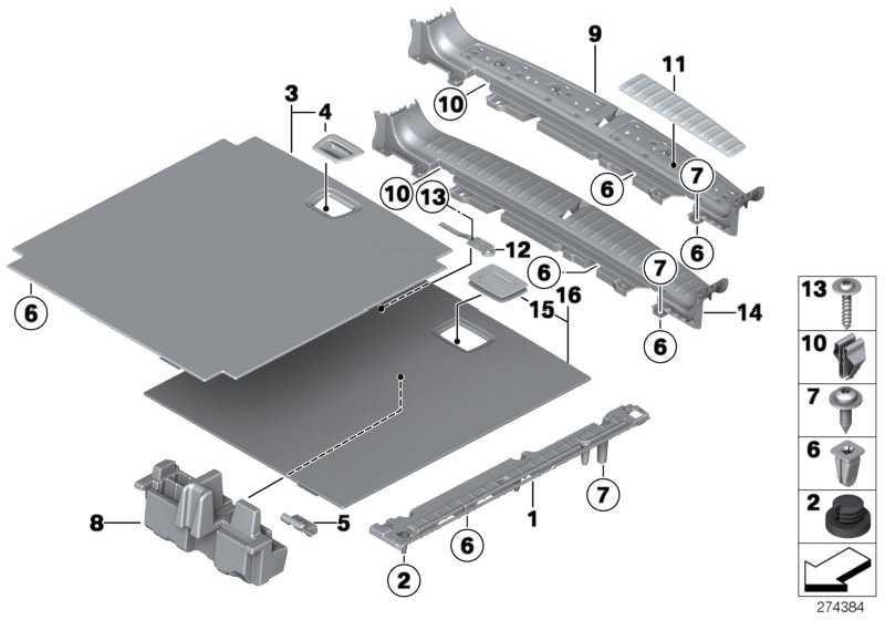 Griff Einlegeboden Gepäckraum  X3  (51477292603)