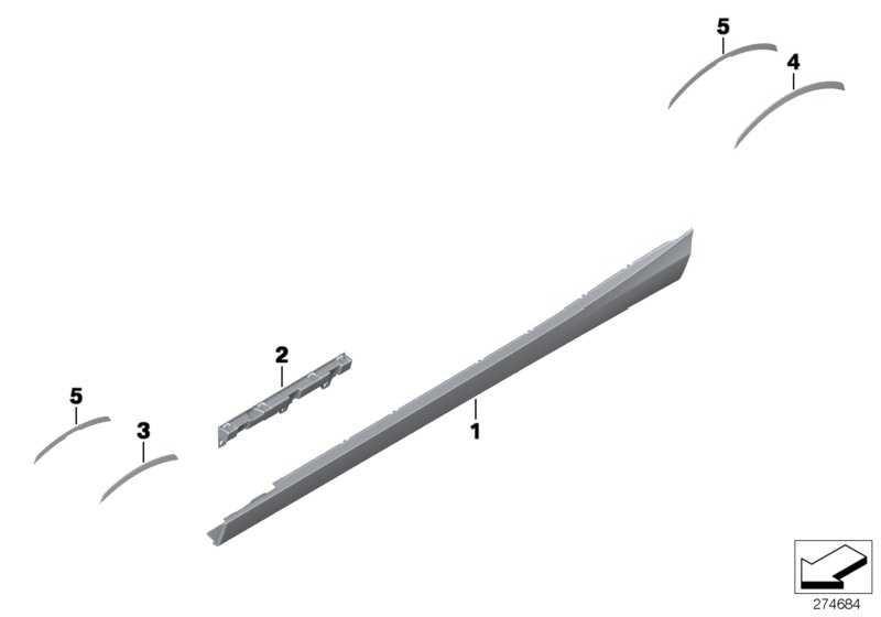 Schwellerleiste grundiert links -M-             1er  (51778056815)