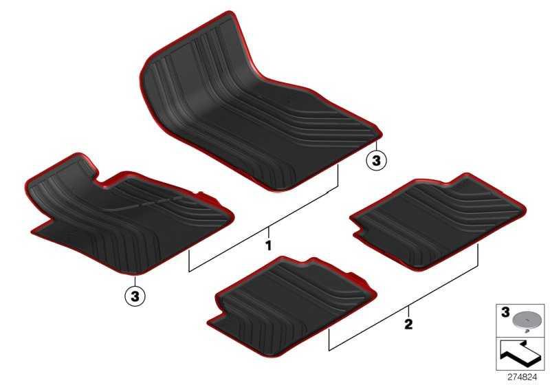 Fussmatte Allwetter RHD vorn RHD F20,F21,F22 1er 2er  (51472339848)