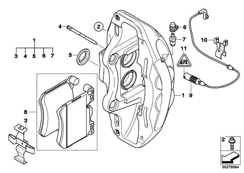 Bremssattelgehäuse links DUNKELBLAU      X5 X6  (34117847241)