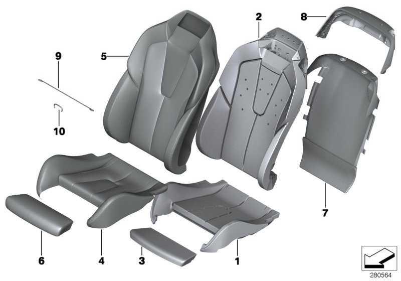 Bezug Sitz vorn Leder LKSW,X3SW SCHW  6er  (52108053000)