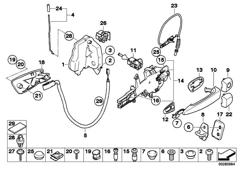 Verschluss mit Schlüssel links  3er  (51217162427)