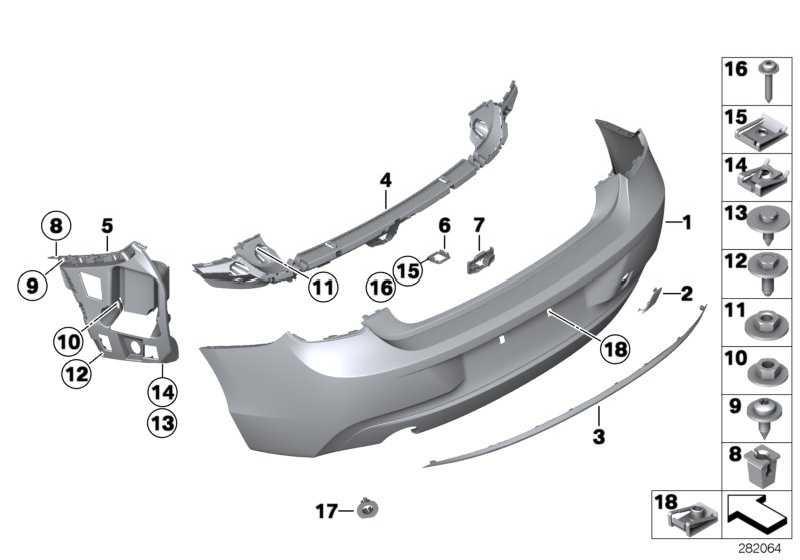 Verkleidung Stossfänger grundiert hinten BASIS / RFK     1er  (51127293559)