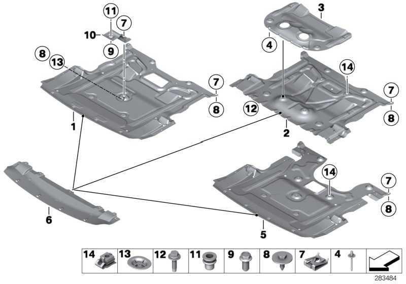 M Adapter Motorraumabschirmung  5er  (51757905276)