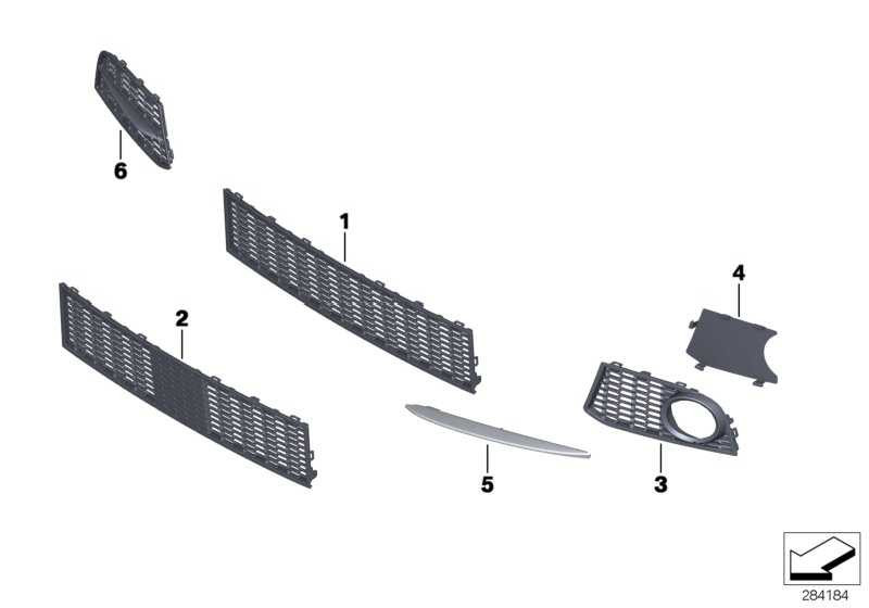 Gitter Lufteinlass links M               5er  (51118057617)