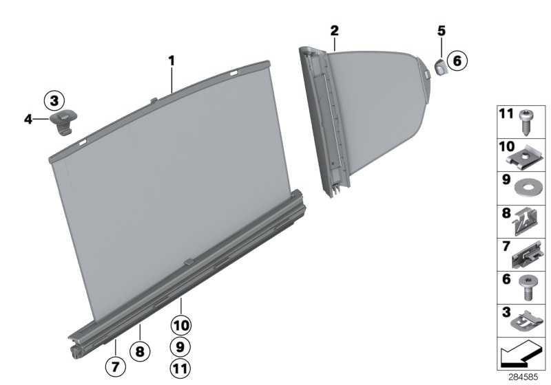 Sonnenschutzrollo Tür hinten rechts  3er  (51427281482)