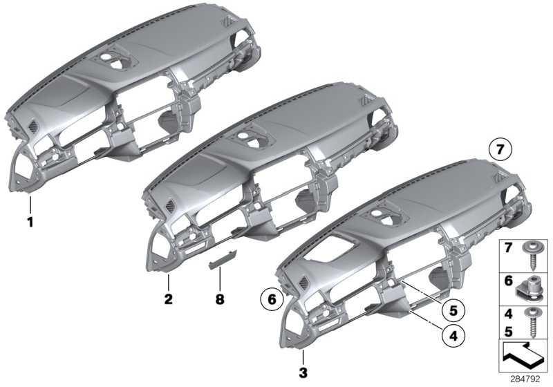 Verkleidung Instrumententafel EVERESTGRAU     5er  (51459211235)