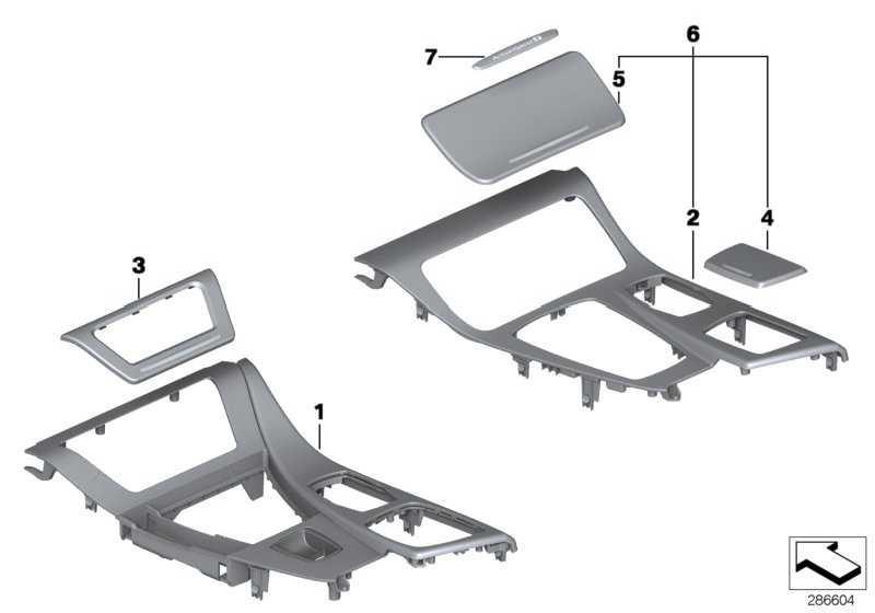 Blende Cupholder Aluminium HEXAGON 5er  (51168050696)