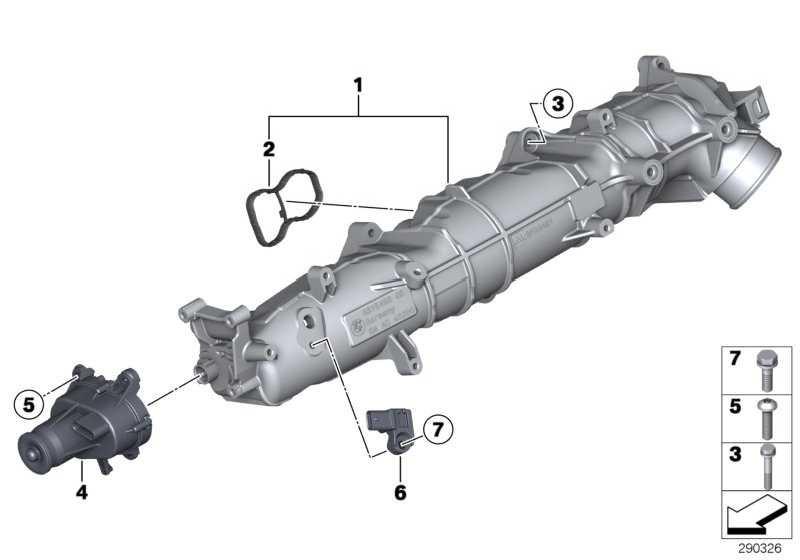 Sensor Ladedruck  5er 7er X5 X6  (13628514488)