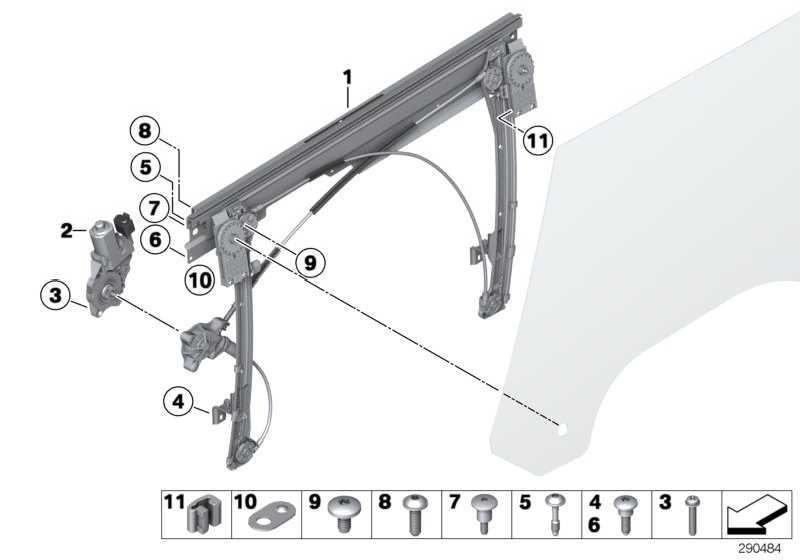 Fensterheber ohne Motor vorne links  MINI  (51332756083)