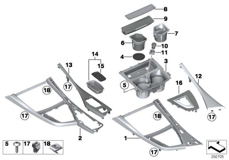 Ablageschale Cupholder Beifahrerseite  1er  (51169257208)