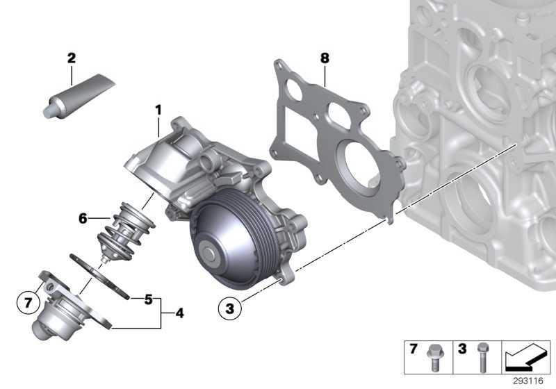 Kühlmittelpumpe mechanisch  1er 2er 3er 4er 5er X1 X3 X5  (11518516204)