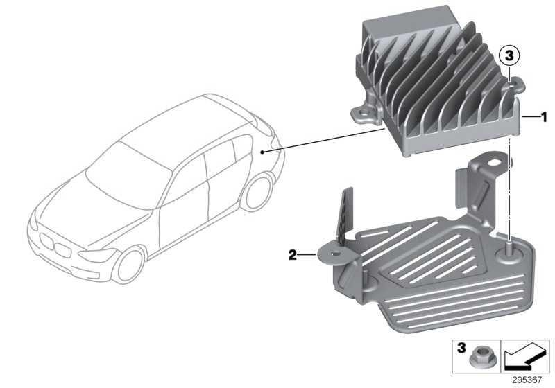 Halter Steuergerät Active Sound Design  1er 3er 4er 2er  (65159286253)