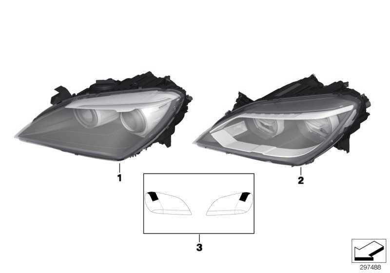 Scheinwerfer LED links  6er  (63127358357)