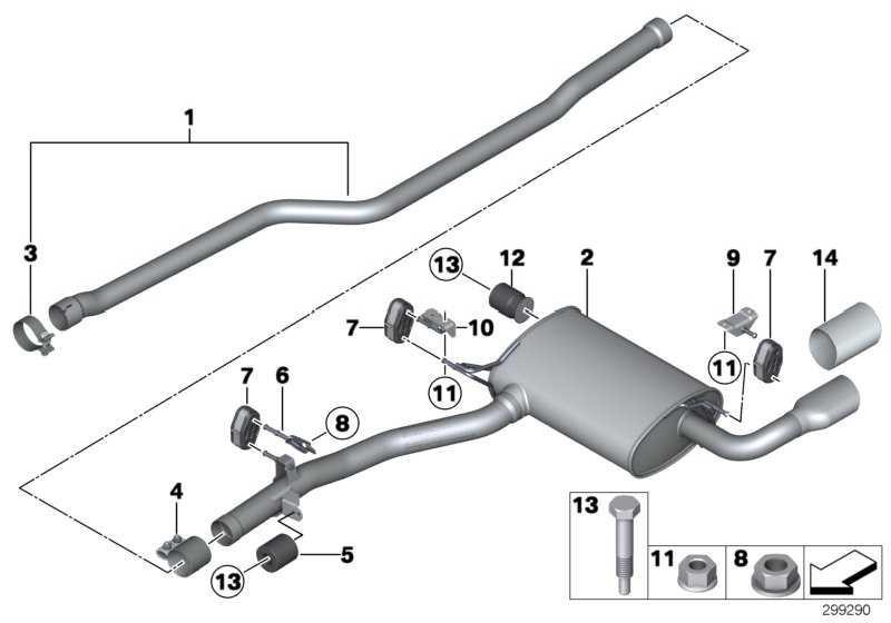Nachschalldämpfer  X3 X4  (18308578308)