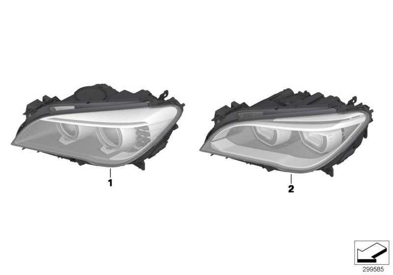 Scheinwerfer LED Technik rechts  7er  (63117348496)