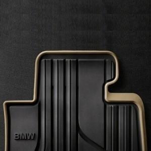 BMW Allwetterfußmatten hinten MODERN anthrazit mit beigem Rand 2er F45 ActiveTourer