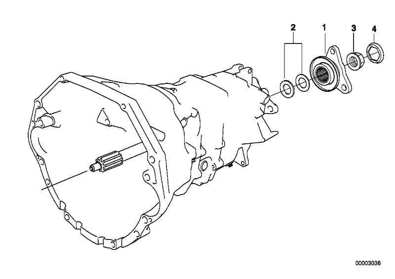 Reparatursatz Abtriebsflansch  5er 7er 8er Z8  (23211222770)