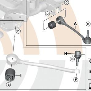 BMW Zugstrebe Reparatursatz 5er E60 E61