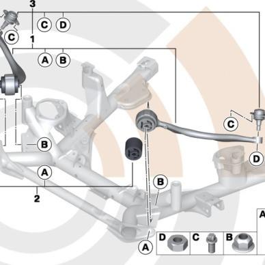 BMW Zugstreben Satz X5 E53