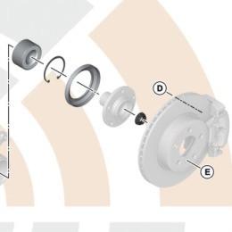 BMW Radlager Reparatursatz vorne 5er E60 E61