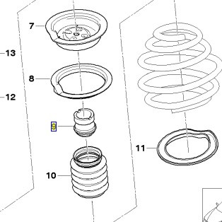 BMW Zusatzdämpfer Reparatursatz Schutzrohr 5er E39