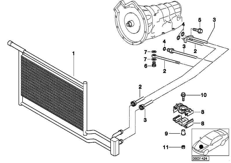 Ölkühlerleitung Vorlauf GM5             5er  (17222248052)
