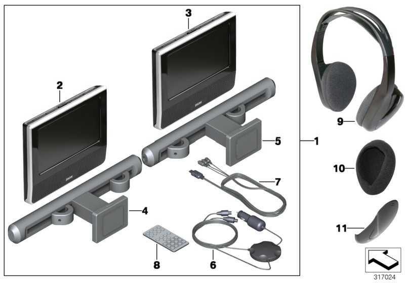 Fondmonitor DVD TABLET      1er 2er 3er 4er 5er 6er 7er X1 X3 X4 X5 X6  (65122293745)