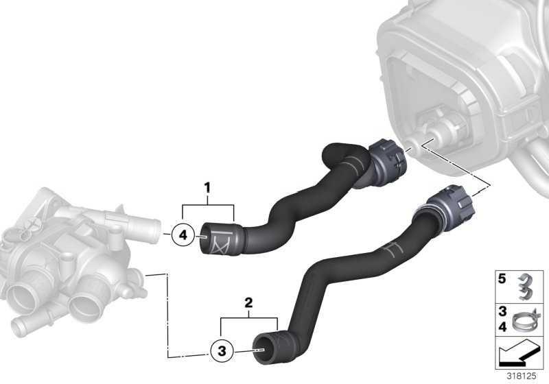 Schlauch Motorvorlauf-Heizkörper  MINI  (64217606001)