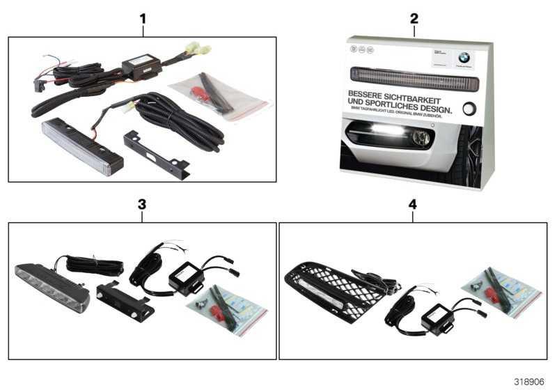 Demobox Tagfahrlicht Lichtleiter DEUTSCH         1er 3er 5er 7er X1 X3 X5 Z4  (63302348224)