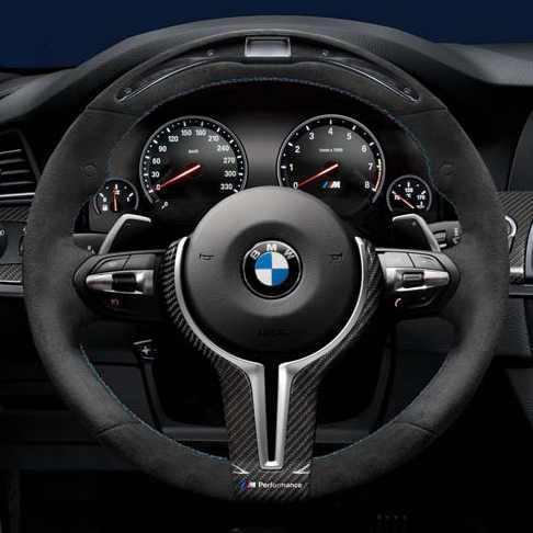 BMW M Performance Lenkrad Alcantara mit Carbonblende und Race-Display 5er M F10 6er M F06GC F12 F13