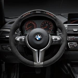 BMW M Performance Lenkrad Alcantara mit Carbonblende und Racedisplay M2 F87