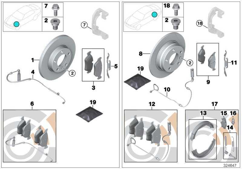 Reparatursatz Bremsbeläge asbestfrei  3er Z4 X1  (34116771868)