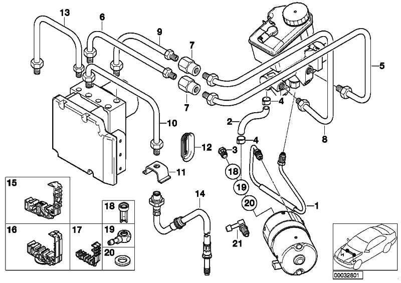 Halter Bremsleitung 5 fach  3er X3 X5 Z8  (34301164313)