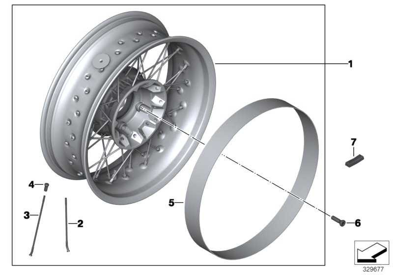 Speichenrad silber hinten 5,5X17           (77218521223)