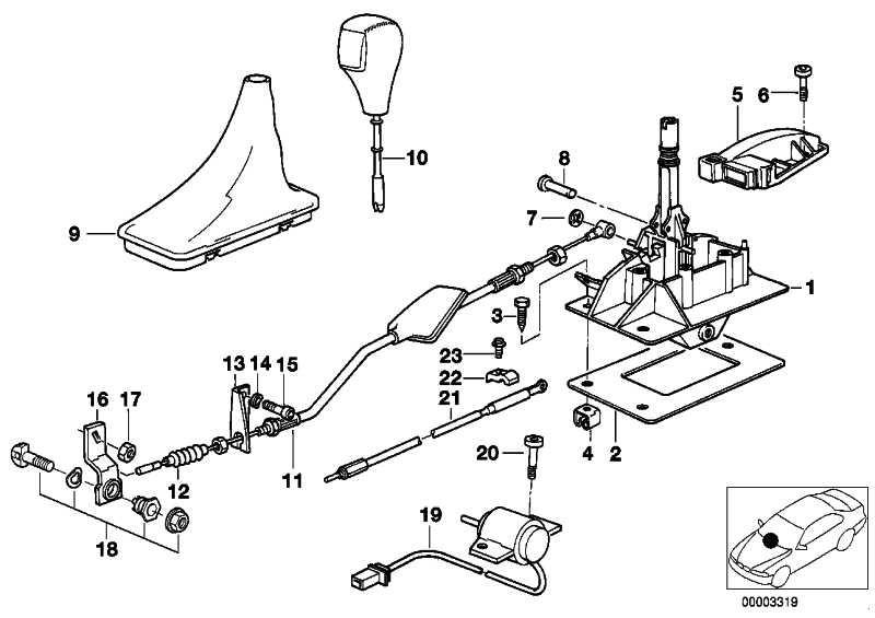 Schalter Getriebe  8er 7er 5er 3er  (25161219152)