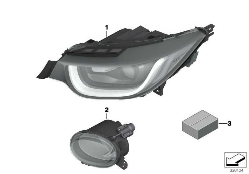 Scheinwerfer LED rechts   (63117381900)