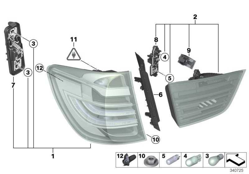 Lampenträger Heckleuchte Heckklappe  X3  (63217288199)