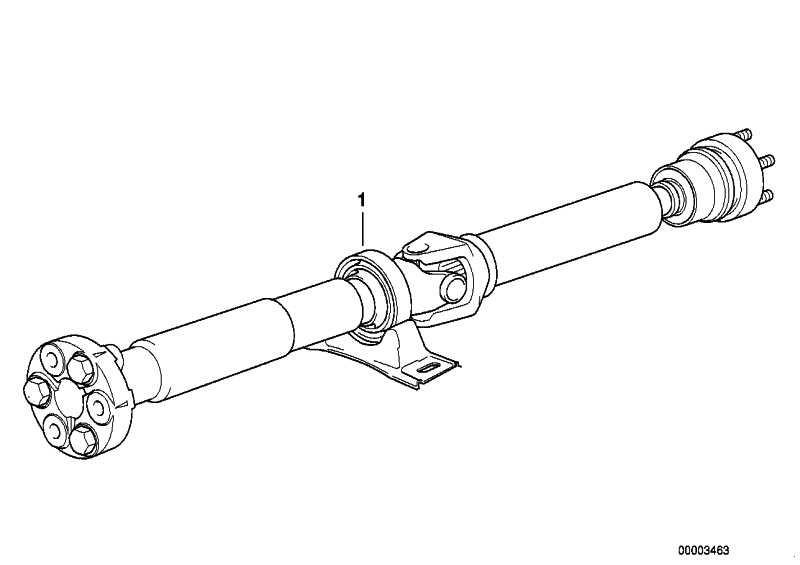 Gelenkwelle Automatikgetriebe L=1599MM 5er  (26107523787)