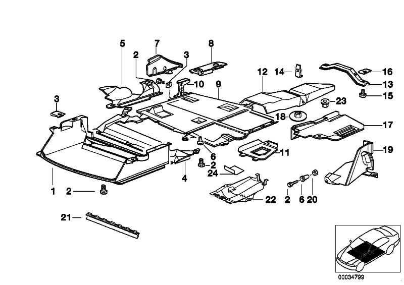Abschirmung Motorraum  3er  (51718173740)