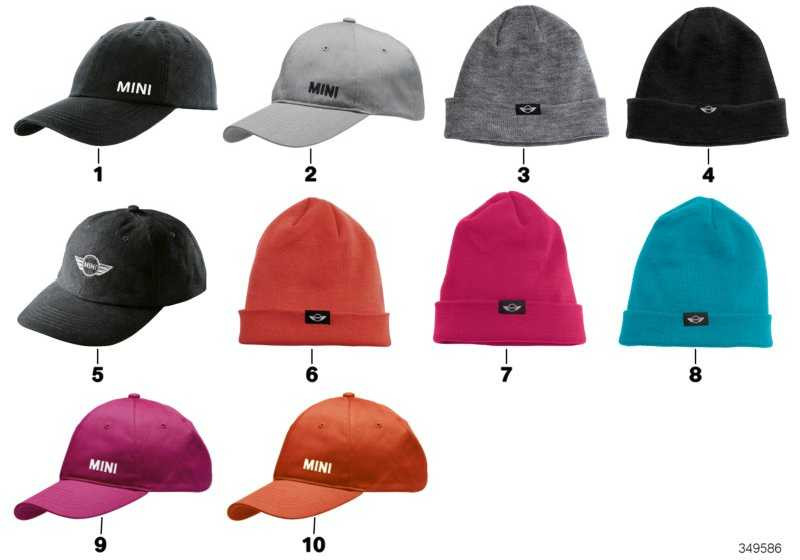 MINI Hut Logo Hat ORANGE  (80162344538)