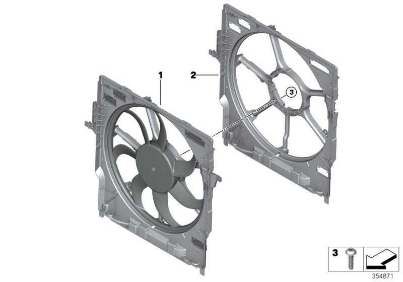 Lüfterzarge mit Lüfter 850W            X5 X6  (17427634471)