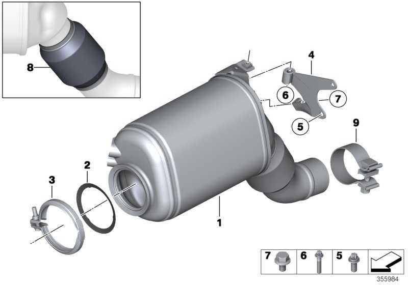 Austausch Dieselpartikelfilter EU5             X3 X5 X6  (18308510429)