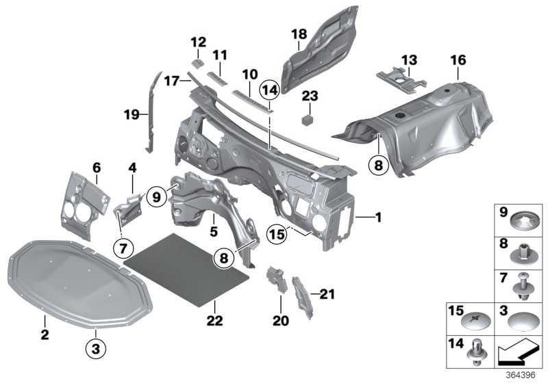 Schallisolierung Frontklappe  X3 X4  (51489175051)