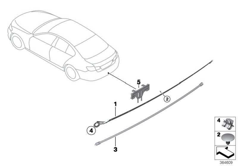 Sensorleitung Smart Opener oben  2er 3er 4er 5er 6er 7er  (61357391042)