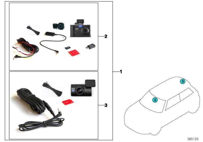 MINI Advanced Car Eye FRONT+REAR CAM MINI  (66212289725)