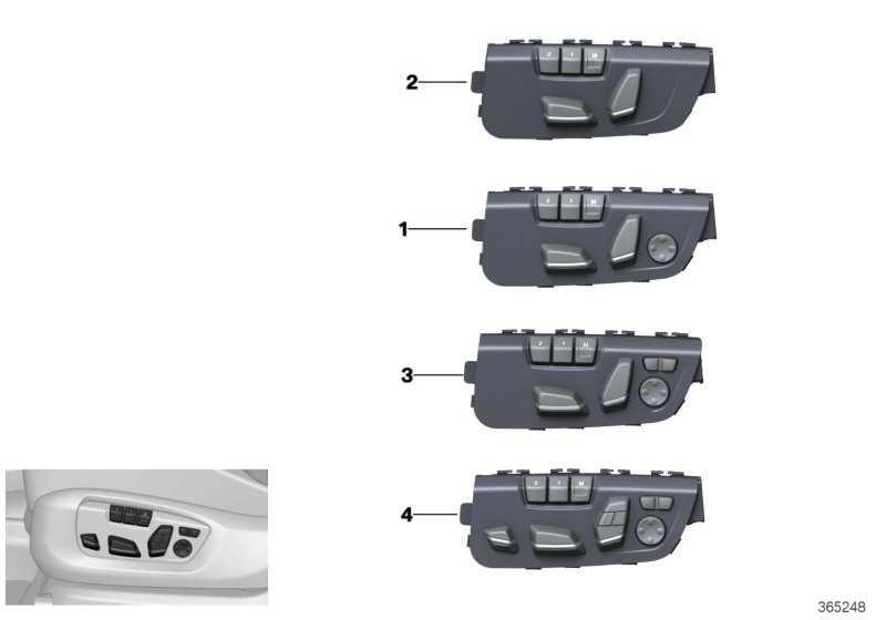 Schalter Sitzverstellung Memory Fahrer  1er 2er 3er 4er X3 X4  (61319359835)